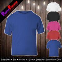 Baby Toddler TShirt - Plain Coloured Boy Girl Christening Shower 100% Cotton
