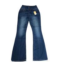 Suzanne Betro Jeans Women's Size 6 Victoria High Waist Boot Cut Dark Denim NWT