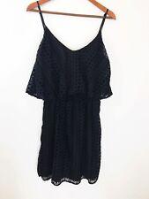 Aqua Brand Womens Dress Large Back Velvet  Burnout Spaghetti Strap Blouson Boho