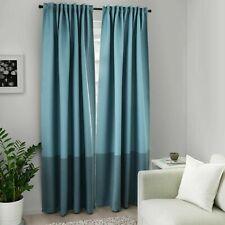 NEW IKEA  MARJUN Room darkening curtains, Blue, 1 pair 145x250 cm 404.140.60