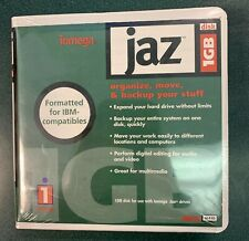 2 Brand New Genuine Iomega Jaz 1GB Disk Media, Formatted for IBM-compatibles