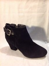 River Island Black Ankle Suede Boots Size 8