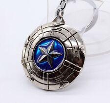 Keychain / Porte-clés - Marvel Avengers Captain America Shield - SILVER