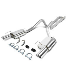 Fit 05-10 Ford Mustang 4.0 V6 Stainless Steel Catback Exhaust System+Muffler Tip