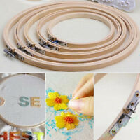 1X Bamboo Cross Stitch Machine Embroidery Hoop Ring Sewing Tool 13 -34 CM Craft