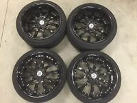 """20 INCH WHEELS Lexani LSS10 20"""" Gloss Black Wheel and Tyre set for Mercedes"""