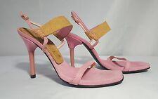 Women's CASADEI Size 8 Pumps Heels Pink Suede Shoes Beautiful Sandals EUC