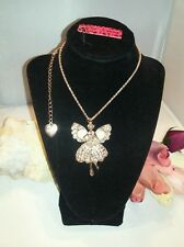 NWT BETSEY JOHNSON CRYSTAL FAIRY PENDANT NECKLACE U.S. SELLER FAST SHIP