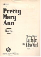 """PRETTY MARY ANN"" NOVELTY SHEET MUSIC-1925-PIANO/VOCAL/CHORDS-EXTREMELY RARE!!"