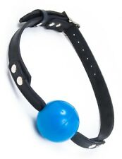 STOCKROOM RUBBER BALL GAG W/BUCKLING RUBBER STRAP BLACK & BLUE BDSM FETISH