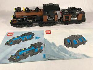 Lego My Own Train Brown Locomotive w/ Tender 3741, 3742, 3743 Complete
