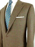 Belvest Dual Vent Green Wool Made in Italy Sport Coat Blazer Jacket Mens 40L