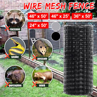 "46"" x 50"" Wire Fence Mesh Cage Roll Garden Galvanized Pet Dog Rabit Fence US"