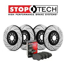 Acura RSX Front and Rear Drilled & Slotted Disc Brake Rotors + Pads KIT StopTech