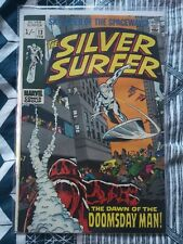 The Silver Surfer Issue #13 Comic Bronze Age Marvel (1st Doomsday Man) Vintage