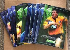 11 Bath Rugby Programmes 2001-2002 Season