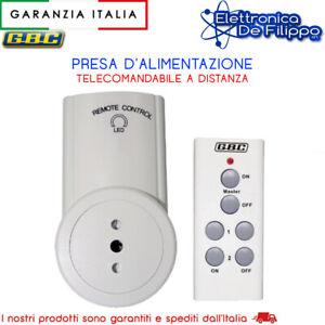 Presa telecomandata a distanza GBC con telecomando wireless 4 canali