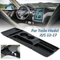 Silicone Black Front Center Console Storage Box For Tesla Model X Model S  W
