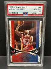 Michael Jordan 2003 UD SP Game Used #98 Serial #d 384/999 PSA 10 Pop 4