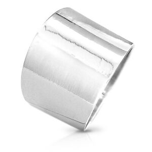 925 Sterling Silver Ring Genuine Handmade Wide Band Cigar Boho Size 6-9