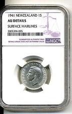 New Zealand Shilling 1941,NGC AU Details