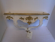 New Vintage Italian Hand Painted Plastic Sconce Wall Shelf Italy