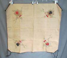 Vintage Mid Century Card Game Table Linen Tablecloth Hand Painted Poker Bridge