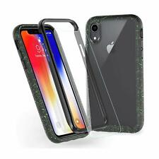 Jakpas iPhone Xs Max Case (2018 Release) w/Tempered Glass Screen Protector-Black