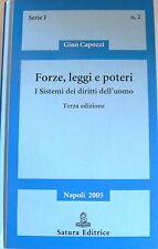 GINO CAPOZZI FORZE, LEGGI E POTERI I SISTEMI DEI DIRITTI DELL'UOMO SATURA 2005