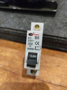 EC B6  6 amp MCB  IEC898 control gear fuse Basic Denmans Lewden