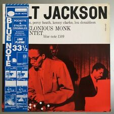 Milt Jackson with T. Monk Quintet Vinyl LP Blue Note France 1983 Great copy!