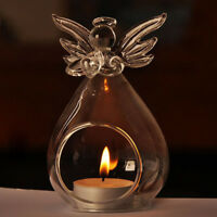 Angel Glass Crystal Hanging Tea Light Candle Holder Home Decor Candlestick