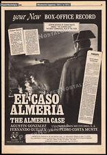 EL CASO AMERIA: The Almeria Case__Orig. 1984 Trade AD / poster__Agustin Gonzalez