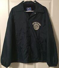 VTG Champion Navy Blue Notre Dame Fighting Irish Button Coaches Jacket - Mens S