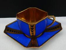 "Art Deco Porzellan Mokkatasse Mäbendorf "" Blau mit Golddekor "" !!! Nr. 271"