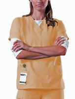 Scrub Top NEW Yellow M Medium Unisex Nursing Medical Uniform Men's Women's A85