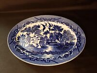 """Oval Serving Platter Blue Willow Made in Japan; 12 1/4"""""""