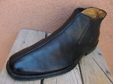 SANDRO MOSCOLONI Mens Dress Shoes Black Leather High Top Chelsea Boot Size 10.5D