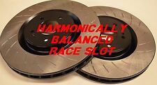 Fit 13-14 Shelby GT500 Harmonically Balanced Race Slotted Brake Rotors F+R Set