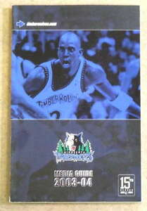 MINNESOTA TIMBERWOLVES NBA BASKETBALL MEDIA GUIDE - 2003 2004 - NEAR MINT