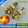 Pair 3014 27smd Amber/Yellow/Orange CANBUS ERROR 501/W5W/T10/194 Wedge LED bulbs