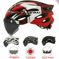 MTB Cycling Helmet W/ Removable Visor Goggles MTB Road Bike Helmet Ultralight