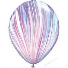 UNICORN PASTEL BALLOONS SUPERAGATE MARBLE FASHION 28CM PARTY HELIUM PACK OF 10