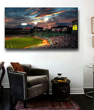 Fenway Park Sunset at night Canvas Print - Large 36 x 20 Boston Red Sox