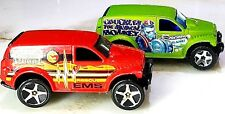 """Lot Of 2 Hot Wheels Power Panel EMS Rescue & Chuckles The Musical Monkey 3 1/4"""""""