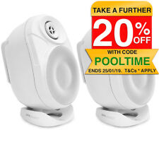 """Pure Acoustics 6.5"""" Wall Outdoor Wireless Bluetooth Active Speaker Pair 120W RMS"""