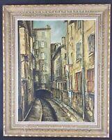 """signé Lucien Ancel (1914-1985) huile sur toile """"Villefranche  en Beaujolais""""1973"""
