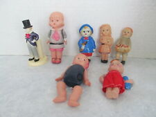 vtg lot of celluloid dolls some rattle