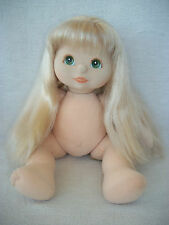 Poupée Mon Enfant blonde  / My child doll long hair green eyes