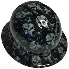 Hard Hat Full Brim Slate Gray Punisher High Gloss W/ Free BRB TShirt
